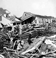 Damage post Galveston Hurricane
