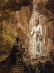 The Angel Moroni and Joseph Smith
