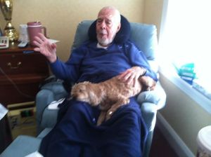 Dad and his dog Poppet