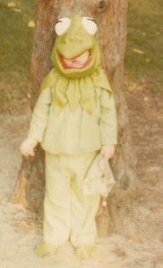 Sabrina as  a very sick Kermit the Frog