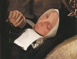 St. Bernadette in her coffin