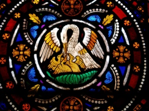 The pelican, a Christian icon of self sacrifice