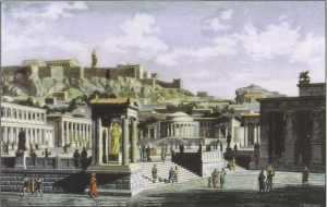 The Agora in ancient Athens