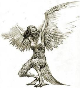 Harpy from Greek mythology