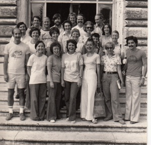 My class at the American Academy of Rome. Third from right in the white pants.