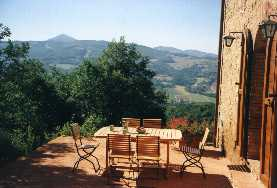 The patio of the Umbrian farmhouse we stayed in -- Il Palombaro